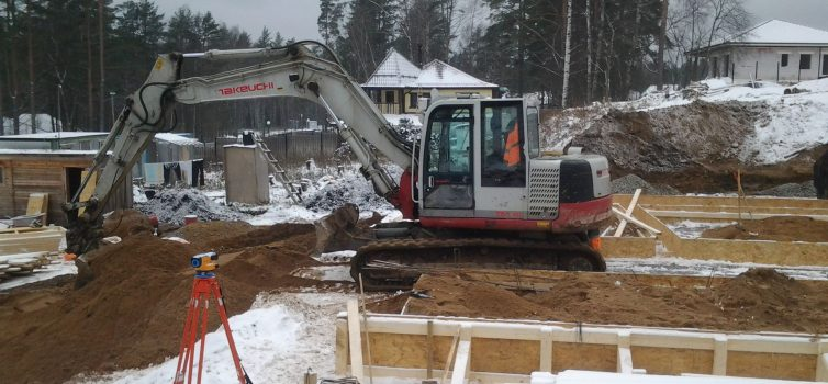 Подготовка территории под фундамент дома