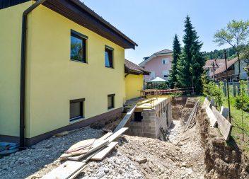 Усиление фундамента существующего дома, при дополнительном строительстве пристроя