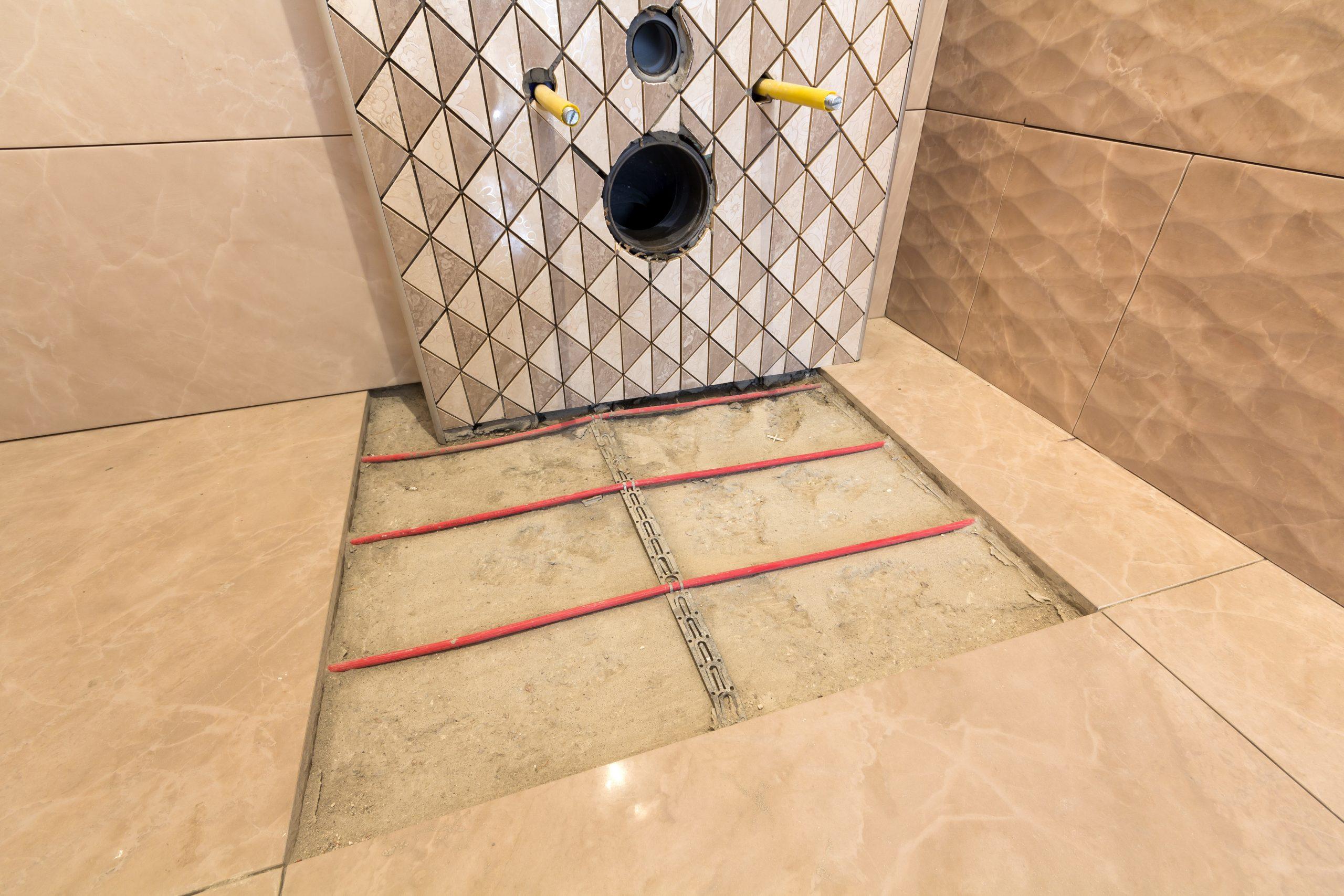 Электрический теплый пол в туалете