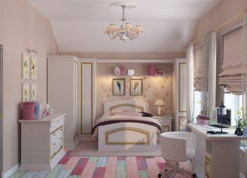 Дизайн интерьера комнаты для девочки подростка