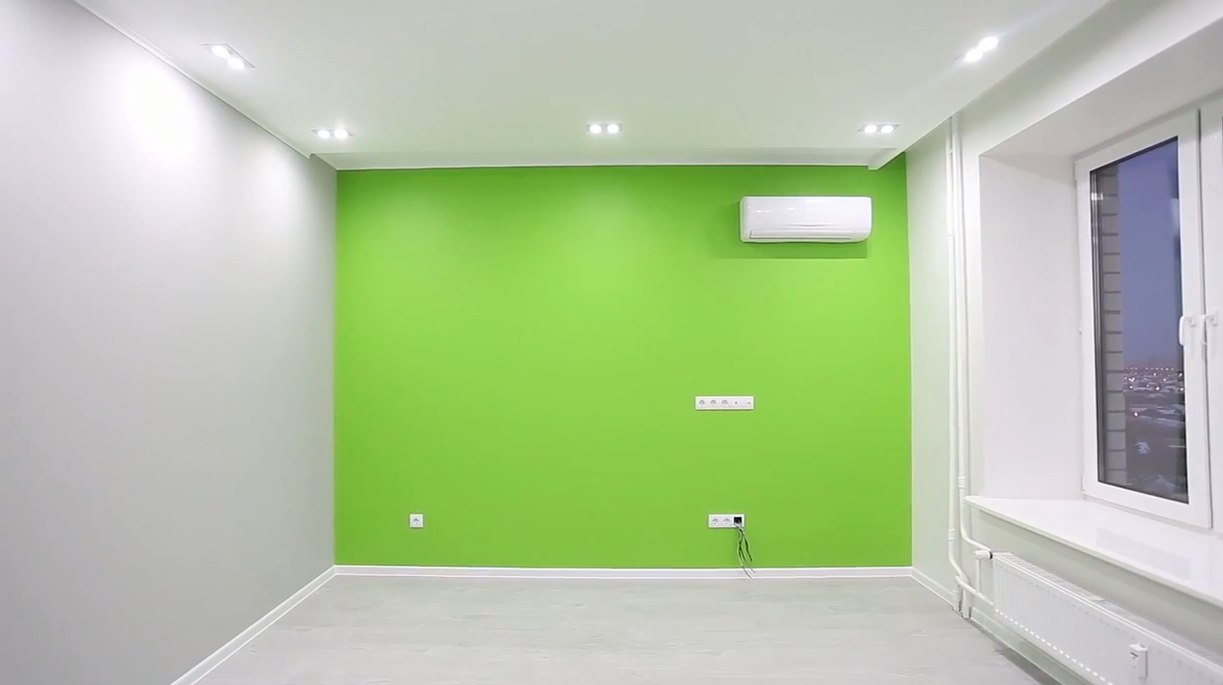 Салатовый цвет в интерьере комнаты