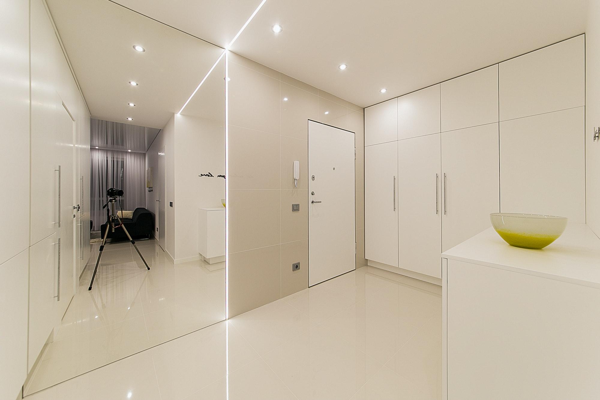 Интерьер квартиры в белом цвете