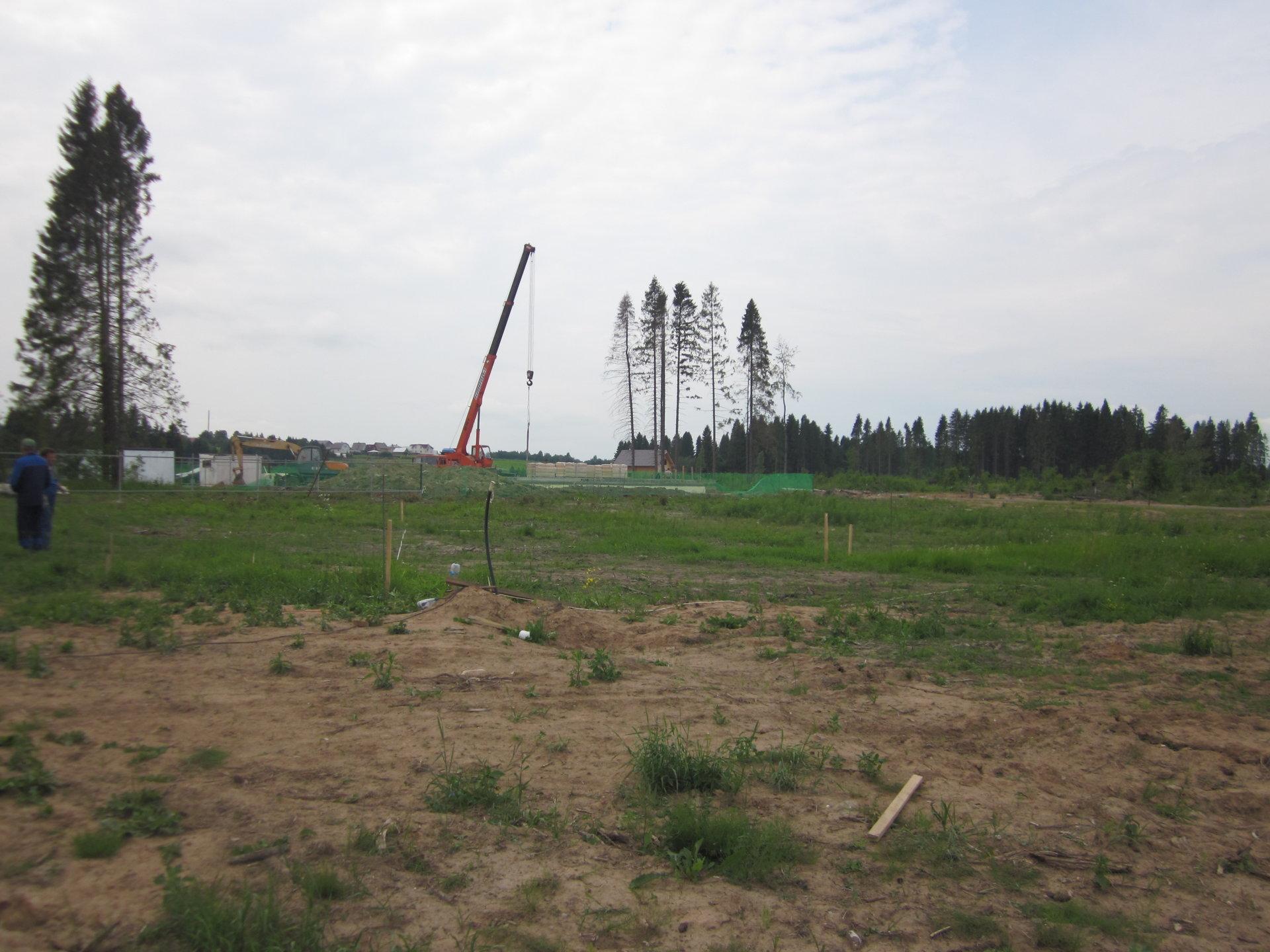 Разметка участка под строительство фундамента