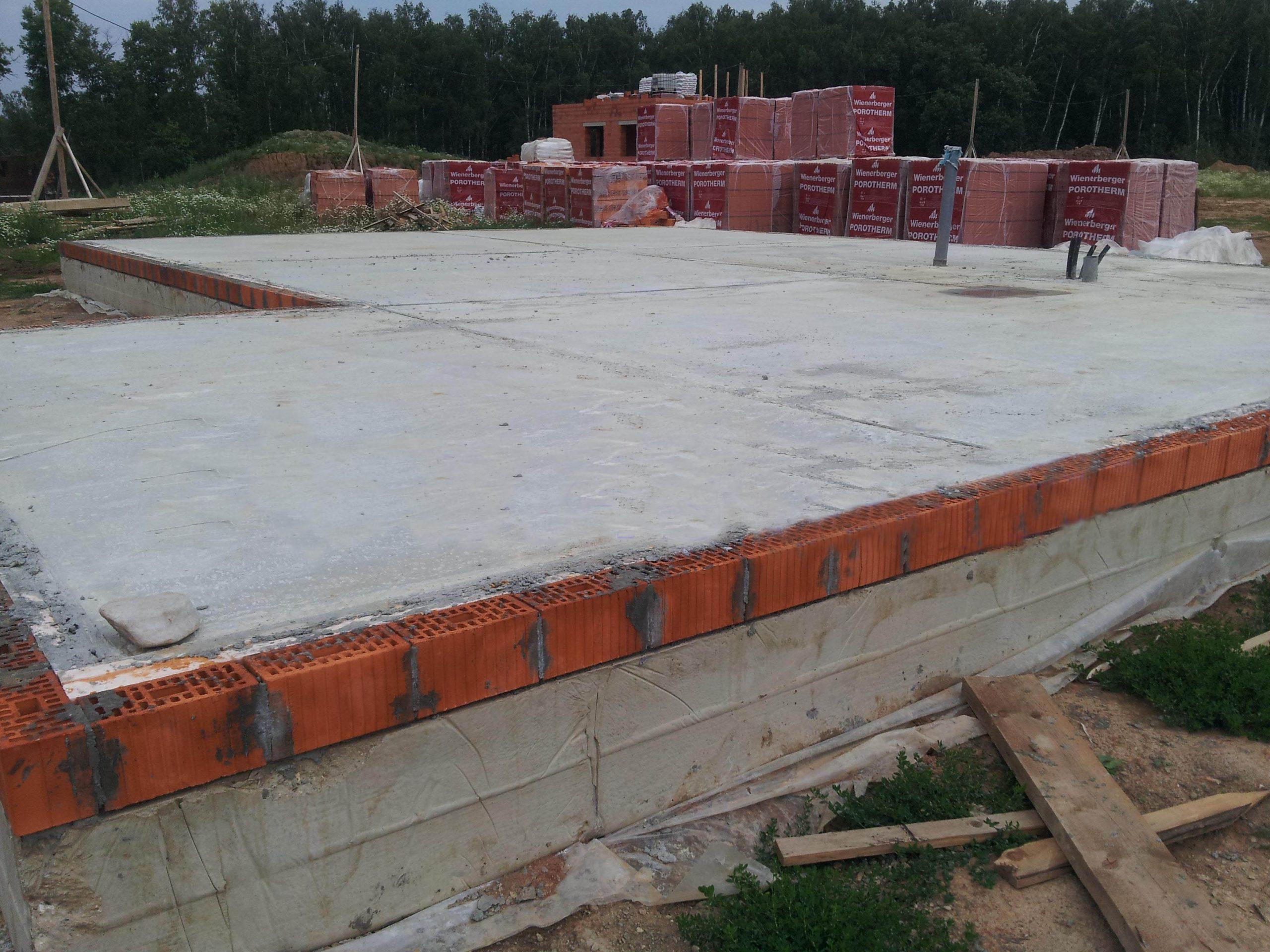 Монолитный фундамент для двух этажного деревянного дома