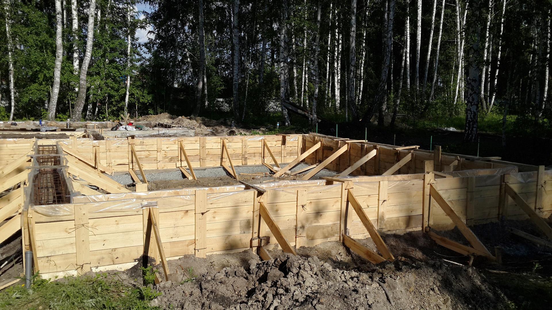 Мелкозаглубленный ленточный фундамент для дома из газоблока