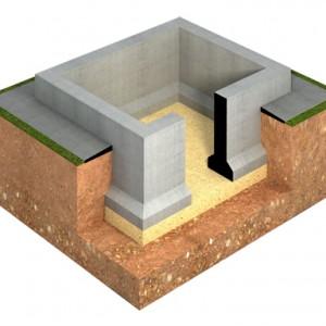 Модель фундамента цокольный этаж