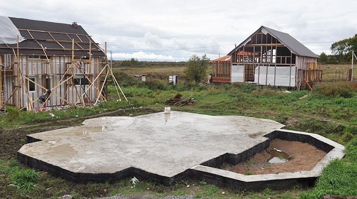 Монолитный фундамент для одно этажного деревянного дома