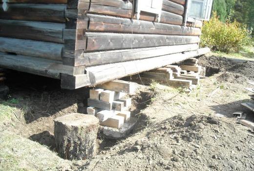Восстановление фундамента деревянного дома