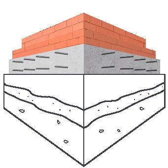 Модель плавающего (плитного) фундамента
