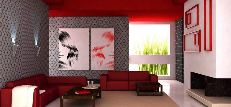 Монохромные цвета в интерьере гостиной