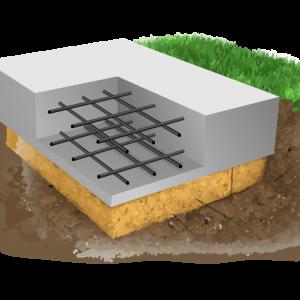 Модель монолитной фундаментной плиты