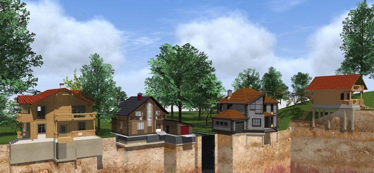 Модель типов фундамента для дома