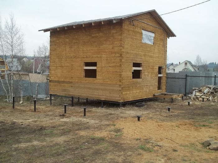 Свайно-винтовой фундамент для дачи, загородного дома