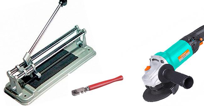 Инструменты для разреза кафельной плитки