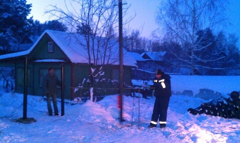 Установка винтовых свай зимой