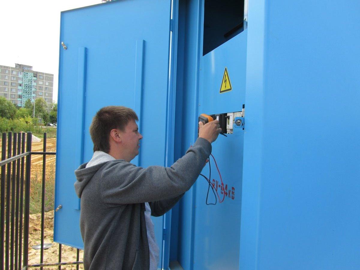 Электрические работы в трансформаторной будке