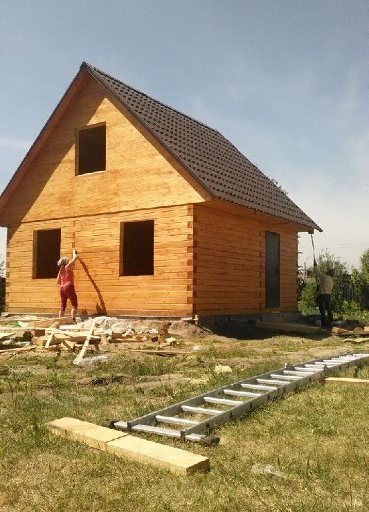 Строительство дома 6x6 из профилированного бруса