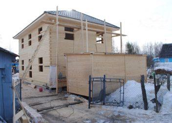 Строительство деревянного дома из бруса