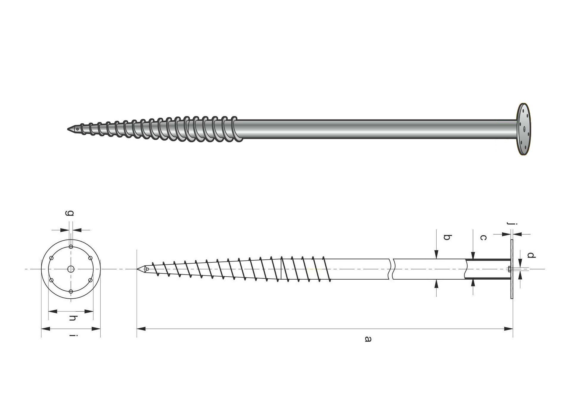 Модель винтовой сваи