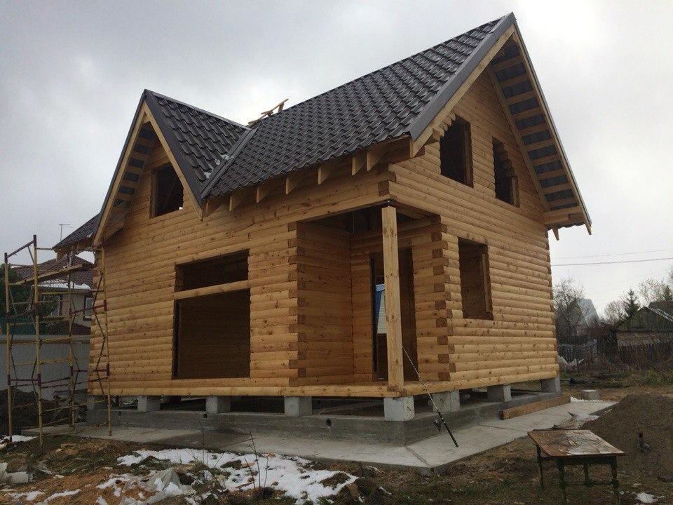 Строительство дачного дома из профильного бруса