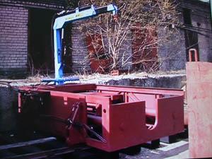 Специализированная установка УПШ-1. (Универсальная мобильная самоходная установка для горизонтального продавливания шпал с вспомогательным грузоподъемным механизмом)